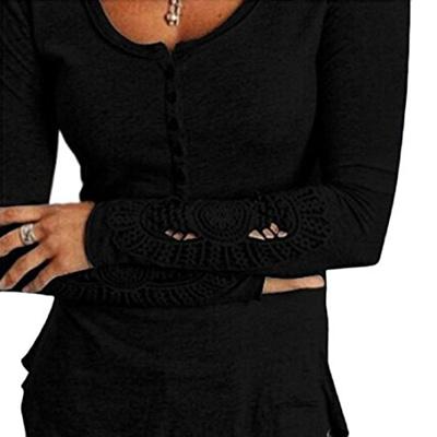 accfa96c64a Qoo10 - (Perman) Perman Womens Casual O-Neck Long Sleeve Lace Blouse Slim  Cott...   Women s Clothing
