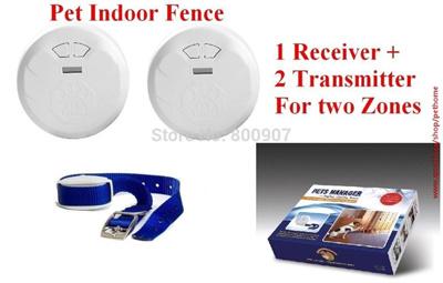 Qoo10 - Pet Indoor Wireless Fence Dog training collar Dog Electric ...