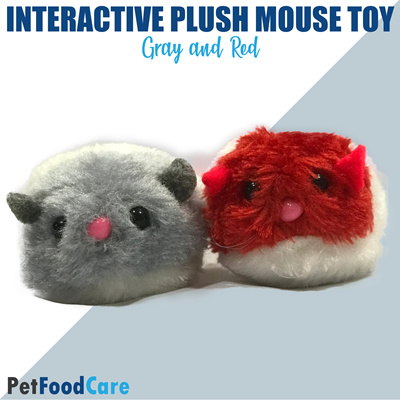 PetFoodCare Mouse Toy for Cats and Dogs Plush Rat Mechanical Motion  Interactive Toy