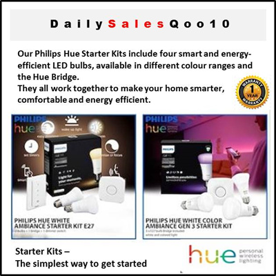[PHILIPS]Philips Hue Ambiance Starter Kit - White and Colour Ambiance GEN 3  Starter Kit - LED