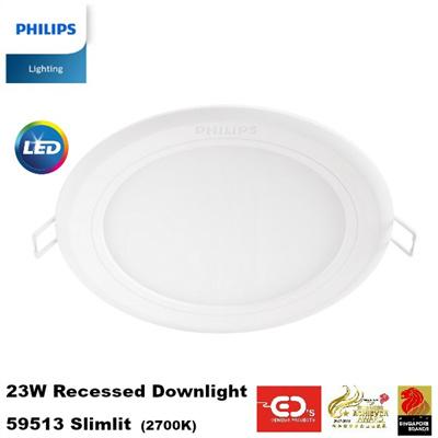 Philips 23W Recessed Downlight - 59513 (2700K) (1 Year Warranty)