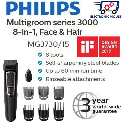 Philips MG3730 15 8-in-1 Face and Hair Trimmer ☆ ( 406ca246155