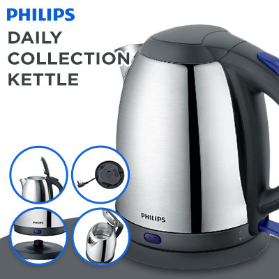 PHILIPS DAILY COLLECTION KETTLE HD9306/9313/ 1800W/ 1.5L CAPACITY/ SUS304 STAINLESS