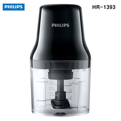 PHILIPSPhilips HR1393/91 Daily Collection Chopper 0 7 Litre 450 Watt -  Black New