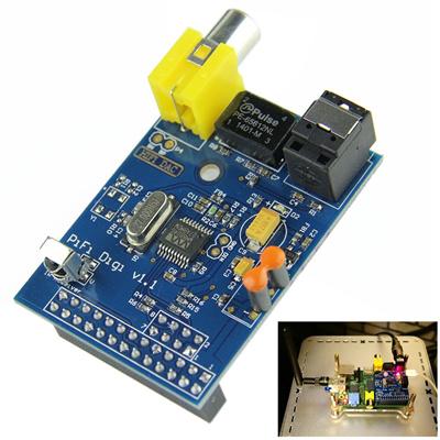 PiFi / HIFI Digital Audio Card With I2S To S/PDIF For Raspberry PI B
