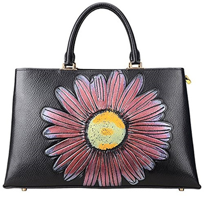 (PIJUSHI) PIJUSHI Designer Floral Bag Ladies Leather Tote Top Handle  Handbags 65349-PIJUSHI . 0c3a24817fd3b