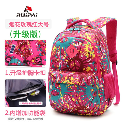 Qoo10 - Pink Schoolbag Primary School girl 1-6 grade children school bag  male ...   Kids Fashion 80109dd87ae0f