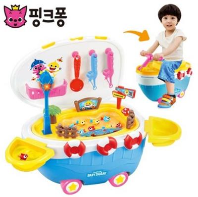 Qoo10 Pink Fong Gaia Pink Fong Shark Family Fishing Play