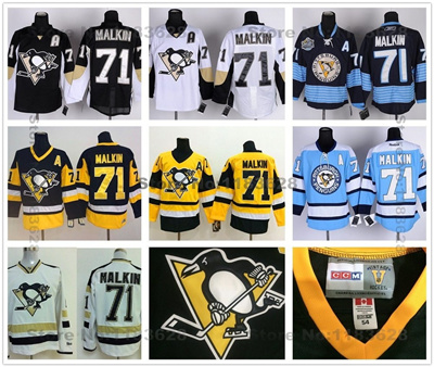 best sneakers 9d97e 4ab66 Pittsburgh Penguins Jerseys #71 Evgeni Malkin Jersey Stadium Series Black  White Alternate Navy Blue