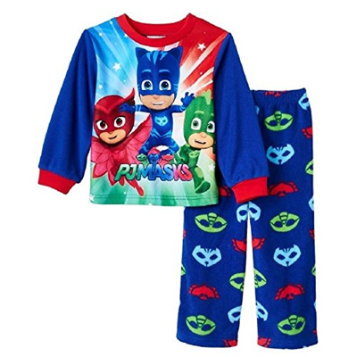 (Pj Masks) PJ Masks Catboy, Owlette U0026 Gekko Fleece Pajama Set Toddler Boy