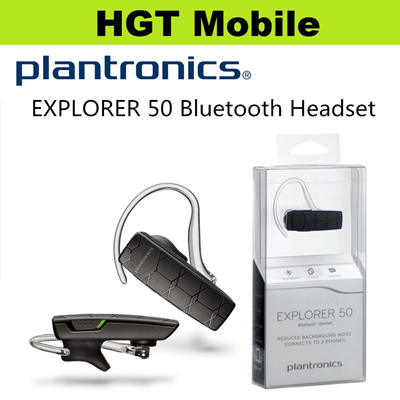Plantronic Explorer 50 Bluetooth Headset*Talk time up to 11 hours*Reduces background noise