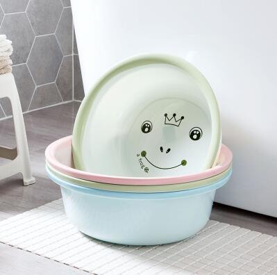 Plastic Cartoon Washbasin Household Thicken Laundry Wash Basin Baby Washtub