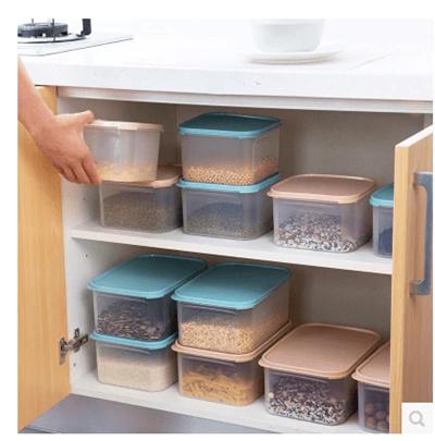 Plastic transparent food storage boxes kitchen storage boxes refrigerators  large fruit food miscella