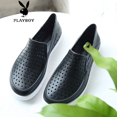 1f56c9e995a Qoo10 - Playboy soft hole shoes Baotou slippers Outdoor wading shoes  breathabl...   Men s Bags   Sho.