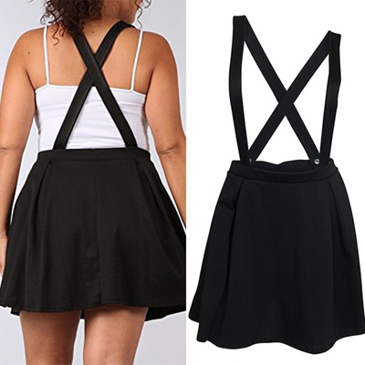 18826f22ce5 Qoo10 - Plus Size Overall Skirt Black   Women s Clothing