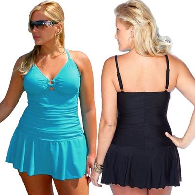 Qoo10 Plus Size Swimwear Dress Swimming Suit For Women One Piece