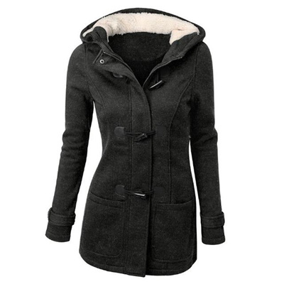 ab76a381dd4 Qoo10 - Plus Size Winter Claw Clasp Womens Wool Blended Classic Pea Coat  Jacke...   Women s Clothing