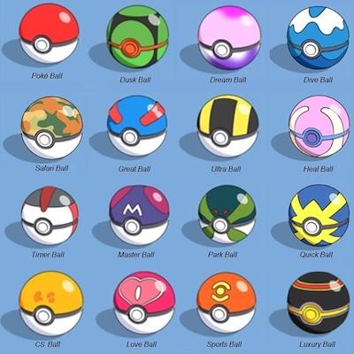 6d411094 Pokeball / Pokemon / Poké Ball /15 Types 7cm each / Pikachu / Pokemon GO