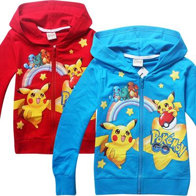 bc48e3298 Qoo10 - pokemon Baby Girls Jackets Hooded Windproof Kid s Clothing ...