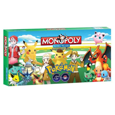 Pokemon Monopoly Junior Puzzel Card Board Game Kids Toy Pikachu Snorlax Dice Chess Rich Man Cards
