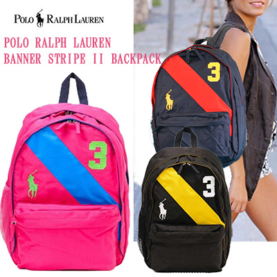 630f211e22 POLO RALPH LAUREN 3 colors Expansion Polo Ralph Lauren Backpack Backpack  BANNER STRIPE II Backpack LG