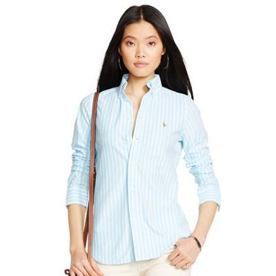 Oxford Knit Striped Polo Ralph Clothing Qoo10 ShirtWomen's Lauren rBoWxCed