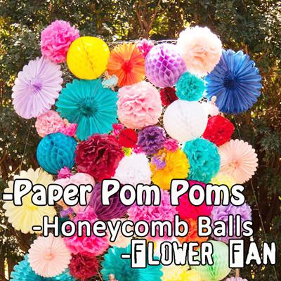 Qoo10 POM POMLanternHoneycombWeddingPaper Flower Tissue Ball