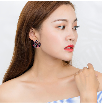 korea earrings frosted stud jewelry cute ball south japan popular ear simple and