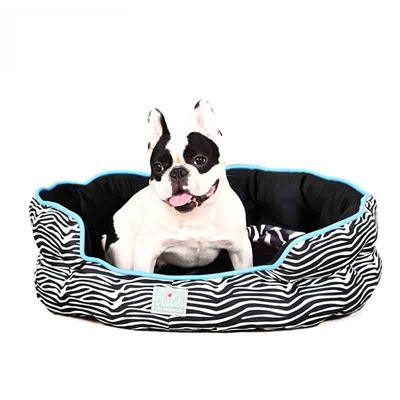 Porky net Ellie Zebra round nest mat pet Nest Dog kennel washable cat  litter Dog supplies Teddy Kenn