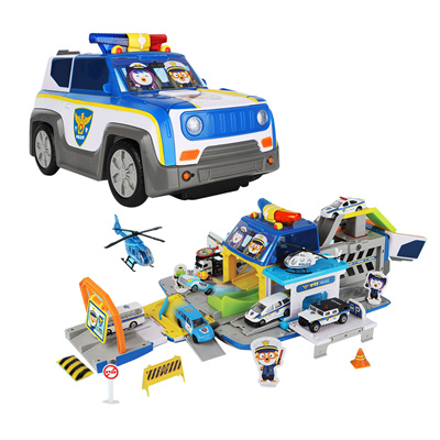 Qoo10 Pororo Police Car Transforming Police Station Toy For Kids