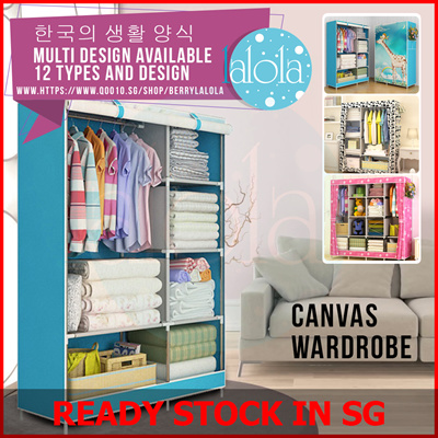 Portable Canvas Clothes Closet Wardrobe Storage Organizer | Quick And Easy  To Assemble Extra Space