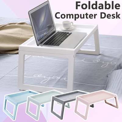 Portable Foldable Folding Laptop Table Notebook Desk Sofa Bed For Eating Studying Foldi