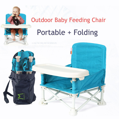 Portable Folding Booster Seat/Dining Table/Baby Dining Chair Outdoor Baby  Dining Chair