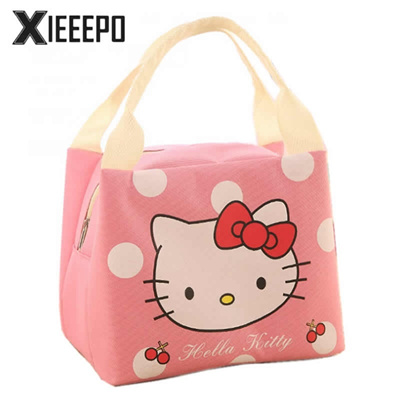Qoo10 - Portable Lunch Bag Cartoon Hello Kitty Cooler Bags Thermal Food  Picnic...   Bag   Wallet d947af9ee5628