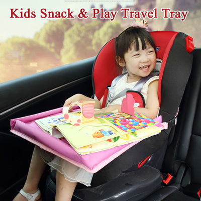 Portable Waterproof Baby Safety Toddler Car Seat Snack Play Tray Board Table