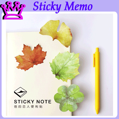 qoo10 sticky leaves stationery supplies