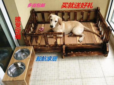 Post pet wood preservative wood spring/summer bed Teddy dog beds dog house  Kennel bed Princess cat l