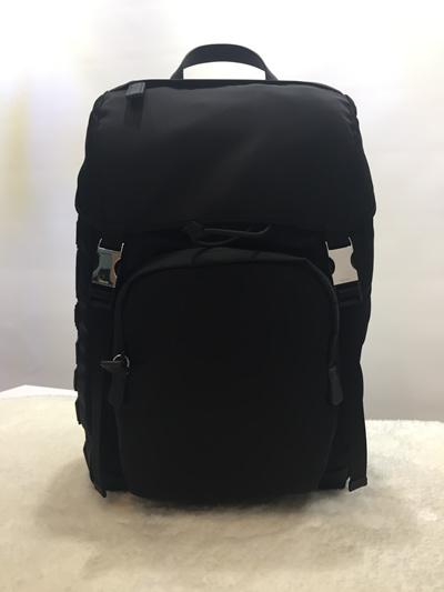 41c9fbb562bdf3 Qoo10 - PRADA Nylon and Saffiano Leather Backpack (2VZ135 VHAY F0GSI ...