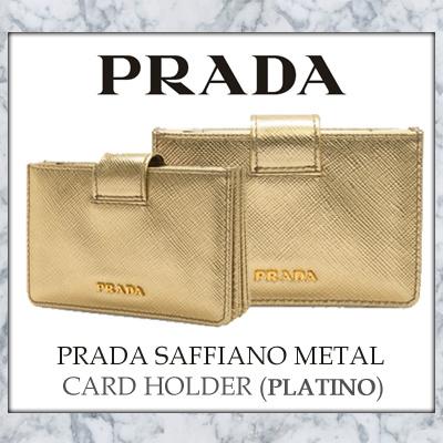 dcebaee8e6e9 ... wallet andbox d4fd7 a3bba netherlands prada saffiano metal card holder  platino b8e93 673d6 ...