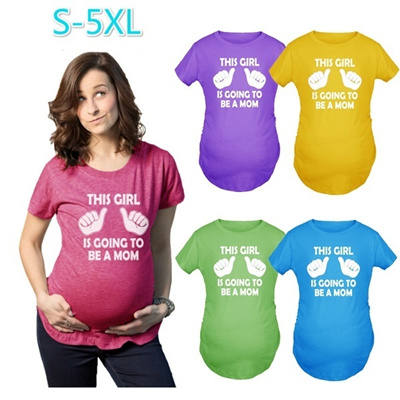 52f775ff2aa00 Qoo10 - Pregnant Maternity T Shirts Shorts Casual Pregnancy Clothes for  Women ... : Women's Clothing