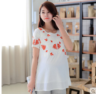 9be20252177bf Pregnant women clothing fashionable pregnant women T-shirt new spring coat  cotton short sleeved loose