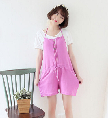 best deals on marketable shop for newest Pregnant women maternity Jumpsuit strap shorts short pants and thin summer  pregnant pregnant abdomin