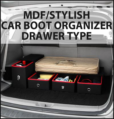 Qoo10 Premium Car Boot Organizer Mdf Drawer Car Boot