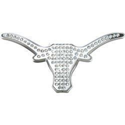 Qoo PREMIUM University Of Texas Longhorn Crystal Chrome METAL - Texas metal car show