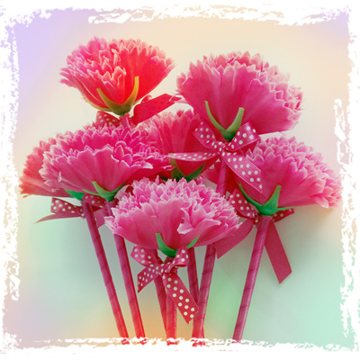 Qoo10 pretty carnation pen stationery supplies pretty carnation flower pen a perfect gift for teachers girlfriends mothers lovers loved mightylinksfo