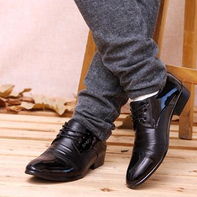 Pria Klasik Sepatu Kulit Titik toe Sepatu Pernikahan Formal Dress Bisnis Wear Ukuran 38 44