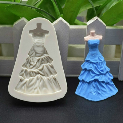 Princess Dress Wedding Dress Silicone Fondant Mold Cake Decoration Tools  Chocolate Mould