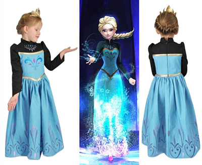 Dresses Frozen Elsa Anna Kids Girls Dress Costume Princess Party Fancy Xmas Christmas Girls' Clothing (sizes 4 & Up)