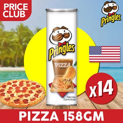PringlesPringles Potato Chips Pizza USA 158 gm (14 BUNDLE DEAL) / Well-  Seasoned