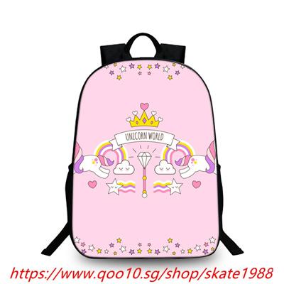 e213a2b9d920 Qoo10 - Printed Unicorn Backpack Students School Bag For Teenage Girls Boys  Ru...   Kids Fashion